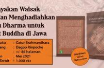 Merayakan Waisak dengan Menghadiahkan Buku Dharma untuk umat Buddha di Jawa